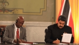 Prime Minister of Trinidad and Tobago Keith Rowley and Venezuelan President Nicolas Maduro
