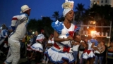 A Cuban carnival group performs in Havana.