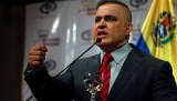 Venezuela's Chief Prosecutor Tarek William Saab talks to the media during a news conference in Caracas
