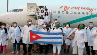 Cuban doctors are flown to several countries around the world to help combat the coronavirus outbreak.