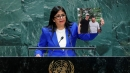 Venezuela's Vice President Delcy Rodriguez at the 74th session of the United Nations General Assembly at U.N. headquarters in New York City, New York, U.S., September 27, 2019.